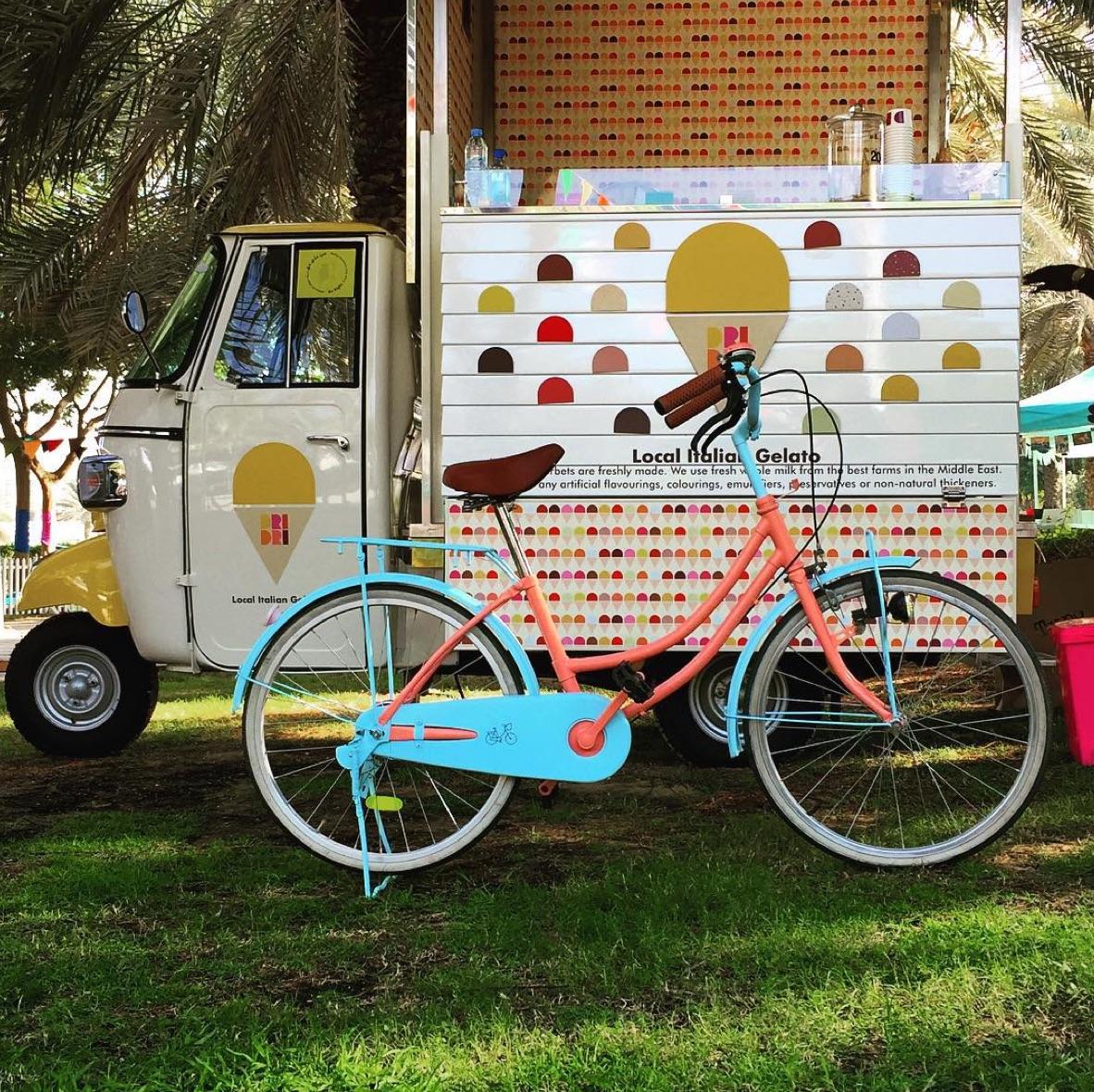 upcycled market bike