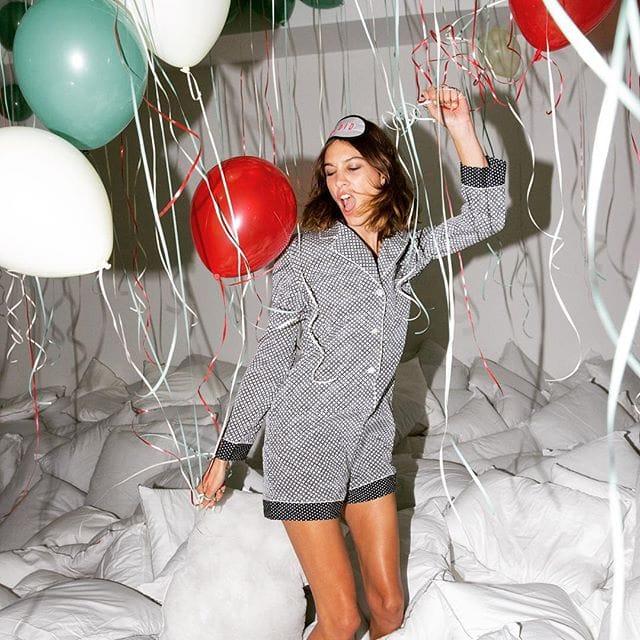 Alexa Chung pajama party