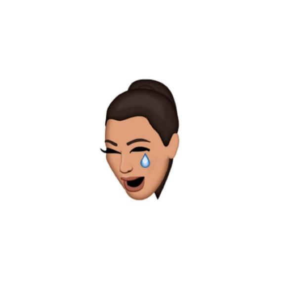 crying kim kardashian face emoji